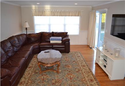 Katama - Edgartown, Katama Martha's Vineyard vacation rental - Large family room opens to back yard.