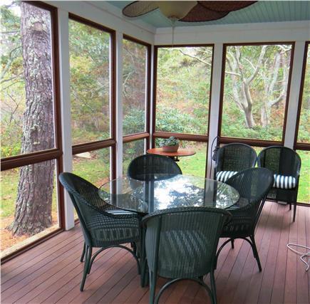 Edgartown Martha's Vineyard vacation rental - Screened porch