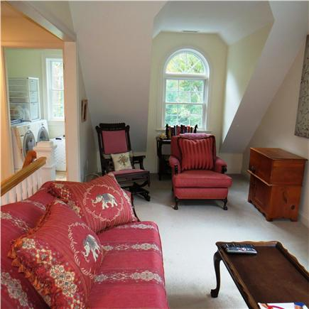 Edgartown Martha's Vineyard vacation rental - Second floor sitting area with TV