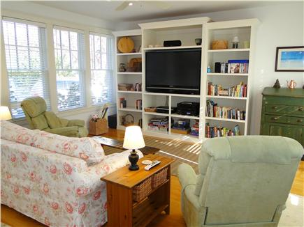 Edgartown Martha's Vineyard vacation rental - Sunroom with TV, adjacent to kitchen