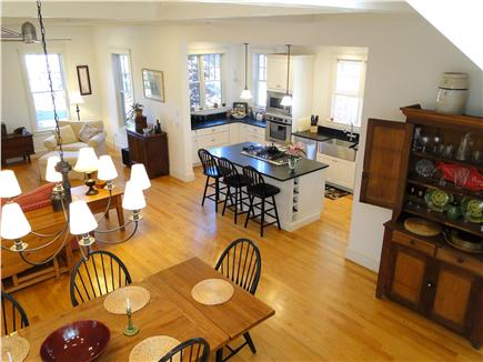 Edgartown Martha's Vineyard vacation rental - View from stairs, open living space, great for gathering together