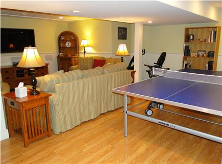 Edgartown Martha's Vineyard vacation rental - Family room with TV, ping pong, exercise equipment