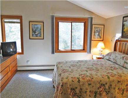 Lambert's Cove  West Tisbury Martha's Vineyard vacation rental - Queen bed master upstairs in Guest House