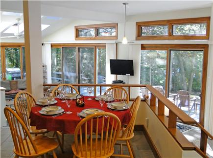 Lambert's Cove  West Tisbury Martha's Vineyard vacation rental - Dining area, with views of deck, yard and water