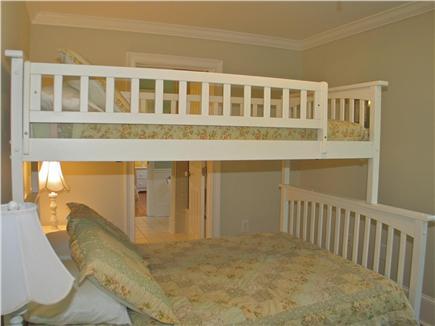 Vineyard Haven, Tisbury Martha's Vineyard vacation rental - Third bedroom with full and twin bunk bed