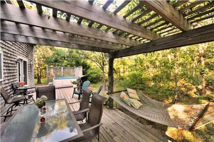 Edgartown Martha's Vineyard vacation rental - Beautiful secluded property Deck w/ hot tub