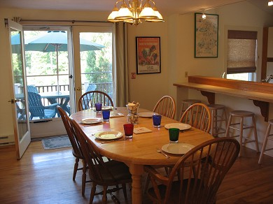 Vineyard Haven Martha's Vineyard vacation rental - Dining area open to the deck