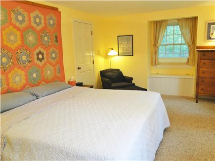West Tisbury Martha's Vineyard vacation rental - Master bedroom on first floor w/ private bath & new flatscreen tv