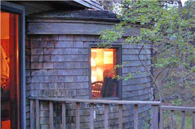 Chilmark Martha's Vineyard vacation rental - Library/Round Room from the deck