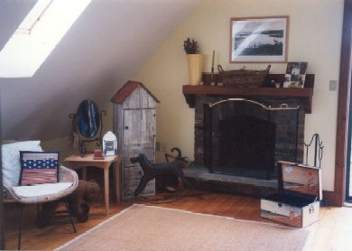 Chilmark Martha's Vineyard vacation rental - Master Bedroom with fireplace and balcony