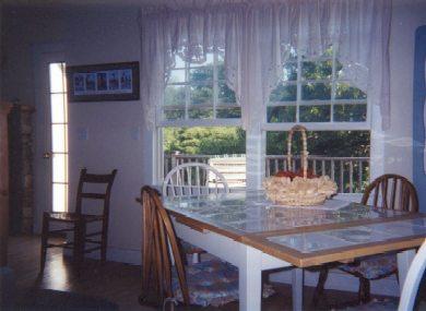 Aquinnah Martha's Vineyard vacation rental - A cheerful dining area.