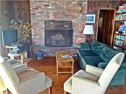 Vineyard Haven Martha's Vineyard vacation rental - Enjoy socializing around the fireplace or watch a movie.