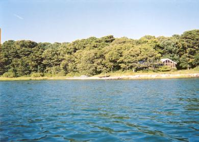 Vineyard Haven Martha's Vineyard vacation rental - View of house from the water
