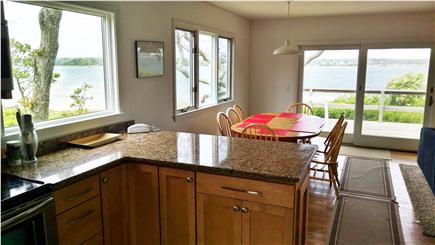 Oak Bluffs Martha's Vineyard vacation rental - From kitchen past dining area to deck & water