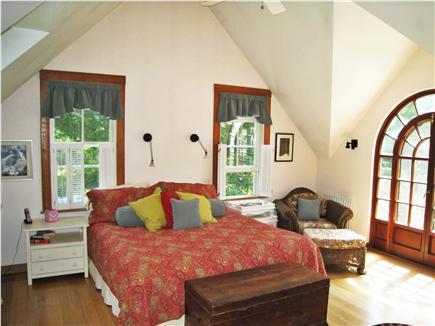 Chilmark Martha's Vineyard vacation rental - Master Bedroom with walkout porch