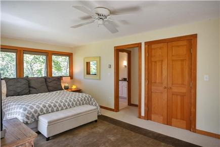 West Tisbury Martha's Vineyard vacation rental - Master Bedroom with ensuite bath a private deck