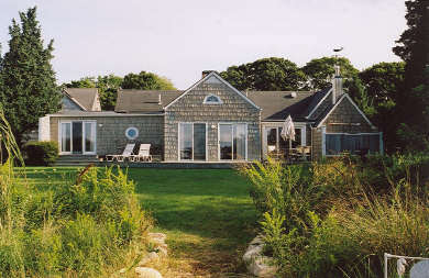 Vineyard Haven Martha's Vineyard vacation rental - Back of House and Back Yard from Water