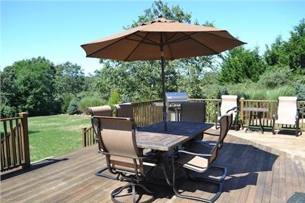 Edgartown/West Tisbury Line Martha's Vineyard vacation rental - Lovely private deck area for outdoor dining and relaxing