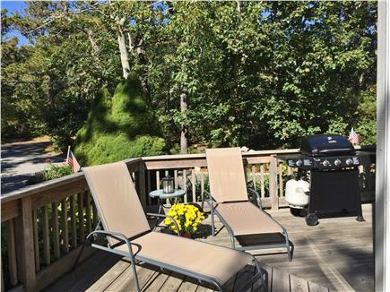 Katama - Edgartown, Martha's Vineyard, Edgartown Martha's Vineyard vacation rental - Front Area of Wrap Around Deck w. Lounge chairs & BBQ