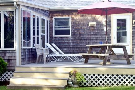 Edgartown Martha's Vineyard vacation rental - Large Back Deck for Outdoor Dining & Lounging