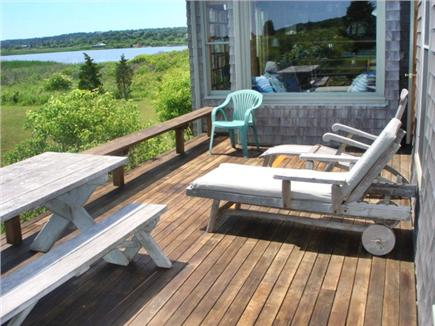 Chilmark Martha's Vineyard vacation rental - View from front deck, facing ocean. Chilmark Pond visible.