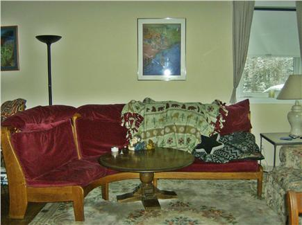 OAK BLUFFS near  SAILING CAMP Martha's Vineyard vacation rental - Living room from kitchen area