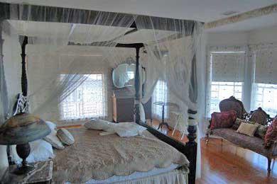 Oak Bluffs Martha's Vineyard vacation rental - Spacious Master BR, private veranda, King canopy bed