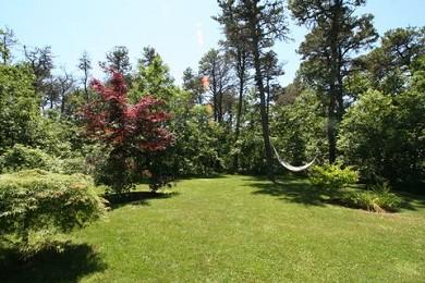 Katama - Edgartown Martha's Vineyard vacation rental - View off deck of private backyard with gardens