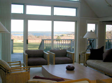 Oak Bluffs Martha's Vineyard vacation rental - Living room with a view