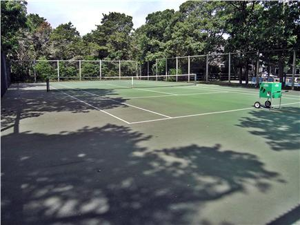 Katama - Edgartown Martha's Vineyard vacation rental - Private tennis court for practice and match play (next to pool)