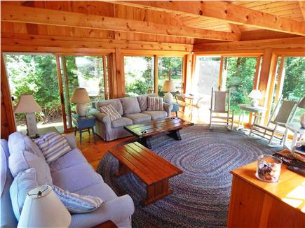 Katama - Edgartown Martha's Vineyard vacation rental - Sunroom- lots of light and air w sliding glass doors on all sides