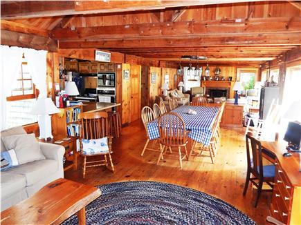 Katama - Edgartown Martha's Vineyard vacation rental - Spacious den, dining room, living room in open plan setting
