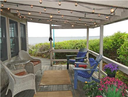 Vineyard Haven  Martha's Vineyard vacation rental - Covered porch with expansive views of both lake and ocean