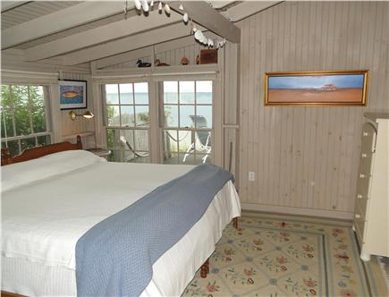 Vineyard Haven  Martha's Vineyard vacation rental - King Master bedroom, with views of deck and beyond!