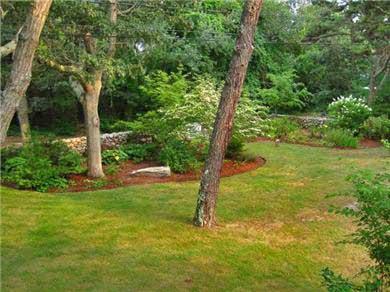 Oak Bluffs, East Chop Martha's Vineyard vacation rental - Yard view from deck