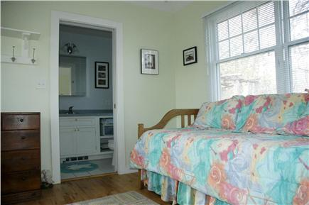 Chilmark Martha's Vineyard vacation rental - Third bedroom with view extending into bathroom