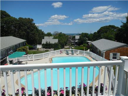 Vineyard Haven Martha's Vineyard vacation rental - View of the pool from the balcony