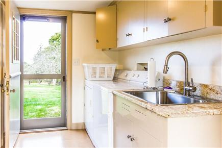 West Tisbury Martha's Vineyard vacation rental - Airy laundry room's dutch doors open to front and back of house