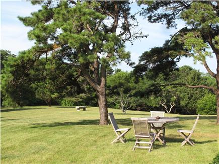 West Tisbury Martha's Vineyard vacation rental - Sip morning coffee or enjoy lunch at front yard's sunny table
