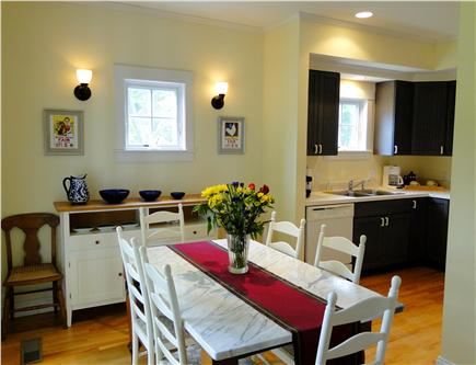 Edgartown Martha's Vineyard vacation rental - Dining area opens to kitchen