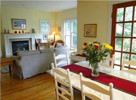 Edgartown Martha's Vineyard vacation rental - Open floor plan between dining and living room