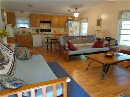 Oak Bluffs Martha's Vineyard vacation rental - Open living room, dining room and kitchen