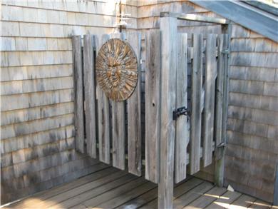 West Tisbury Martha's Vineyard vacation rental - Outside shower on deck
