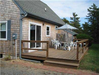 West Tisbury Martha's Vineyard vacation rental - Back deck with southern exposure