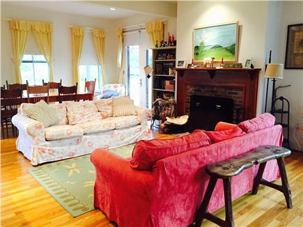 Edgartown Martha's Vineyard vacation rental - Open Living Area with fireplace