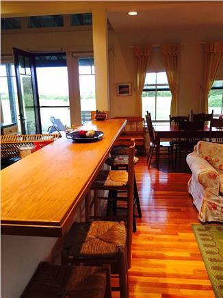 Edgartown Martha's Vineyard vacation rental - KItchen bar seating