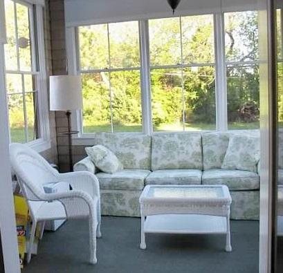 Edgartown Martha's Vineyard vacation rental - Screen porch with sunset view