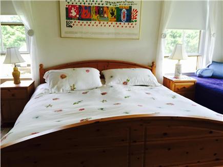 Edgartown Martha's Vineyard vacation rental - Master king bedroom with private whirlpool bath