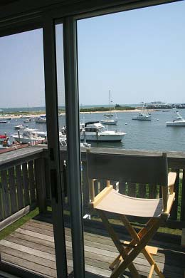 Oak Bluffs Martha's Vineyard vacation rental - View toward Jetty Beach from 2nd floor master bedroom deck