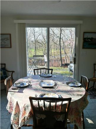 Edgartown Martha's Vineyard vacation rental - Now it's time for Dinner - View Great Room to expansive outside
